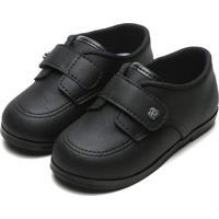 Sapato Pimpolho Infantil Recortes Preto