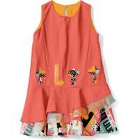 Vestido Lilica Ripilica Infantil - 10111610I Laranja