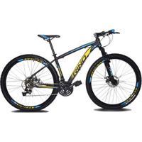 Bicicleta Aro 29 Rino Everest 24V Cambios Shimano - Suspensão Com Trava - Unissex