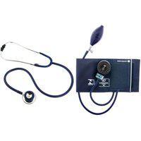 Medidor De Pressão Adulto Nylon Azul Com Estetoscópio Duplo Cj0725P - Bic