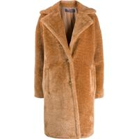 Trussardi Jeans Oversized Faux Fur Coat - Neutro