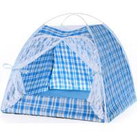 Casinha Pet Para Cachorro E Gato Azul 45X45Cm - Meu Pet
