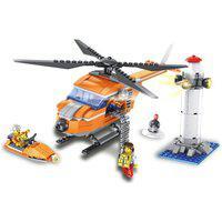 Blocos De Montar - Helicóptero De Resgate - 343 Peças - Tudo Metrópolis