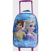 Mochilete Frozen 2 Infantil Média Dermiwil (Azul Médio, M)