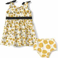 Vestido Com Calcinha Lilica Ripilica Bebê Amarelo