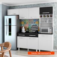 Cozinha Compacta Lorena 5 Pt Branco E Preto