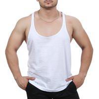 Camiseta Regata Super Cavada Academia Masculino Branco