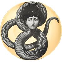 Fornasetti Prato Com Estampa 'Face Serpent' - Dourado