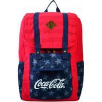 Mochila De Costas Coca Cola Com Tampa American Flag
