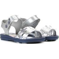 Sandália Infantil Grendene Frozen Snowflake Feminina - Feminino-Azul