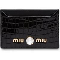 Miu Miu Porta-Cartão Com Animal Print - Preto