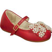 Sapato Boneca Em Couro Com Aplicaã§Ãµes- Vermelha- Kidkimey