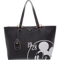 "Bolsa ""Mickey Mouseâ® 1928""- Preta & Branca- 28X34X14Arezzo & Co."
