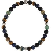 Nialaya Jewelry Pulseira Redonda De Contas - Preto
