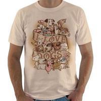 Camiseta I Love Dogs