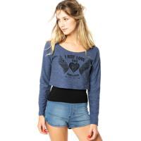 Blusa Hang Loose Just Love Azul/Preta