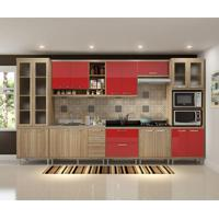 Cozinha Compacta Urdinarrain 17 Pt 5 Gv Argila E Vermelho