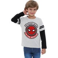 Camiseta Infantil Estampa Homem Aranha Marvel