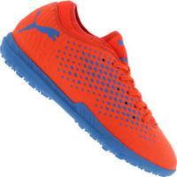 ... Chuteira Society Puma Future 19.4 Tf - Adulto - Vermelho Azul 61e2936b8dcf4