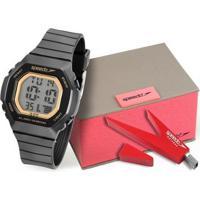 Kit Relógio Speedo 80615Loevnp1 Feminino + Pendrivre - Unissex-Preto