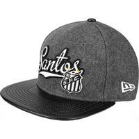 Boné New Era Santos Aba Reta Flanel 950 Of Sn - Unissex 7e372477156