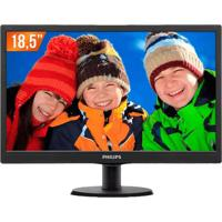 "Monitor Philips 193V5Lsb12 - Led 18.5"" - Hd"
