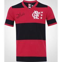 3929280647 Netshoes  Camisa Flamengo Zico Retrô Libertadores Masculina - Masculino