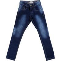 Calça Jeans Juvenil Para Menino - Azul