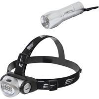 Lanterna De Cabeça 8 Leds Turbo Led + Mini 9 Blitz Nautika