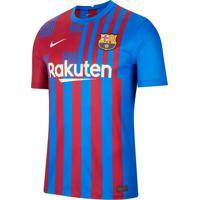 Camisa Masculina Nike Clubs Fc Barcelona Home 2021/22 Azul/Vermelho - P