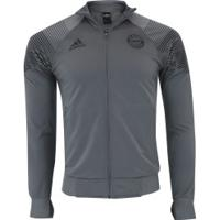 Jaqueta Bayern De Munique 18/19 Lic Adidas - Masculina - Cinza Escuro