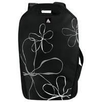 """Mochila P/ Notebook Clone 15.6"""" Nylon Preta Com Flores 2289"""