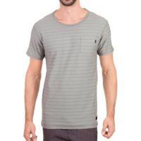 Camiseta Oakley Cold Striped Masculino - Masculino-Cinza