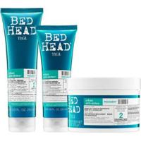 Shampoo 250Ml + Condicionador 200Ml + Máscara Bed Head Tigi Recovery 200G - Unissex-Incolor