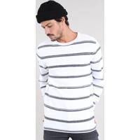 Suéter Masculino Com Listras Off White