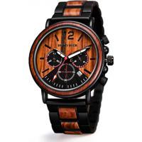 Relógio De Madeira Dododeer-C04 Marrom