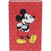 Cofre Livro Mickey Mouse® - Vermelho & Preto - 11,5Xzona Criativa