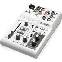 Mesa De Som E Interface De Áudio Yamaha Ag03 Branco Alimentação Usb