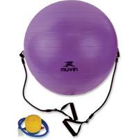 Bola De Pilates Com Extensor - 65Cm Muvin Blg-400 - Unissex