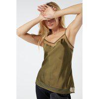 Blusa De Alças Finas Seda - Verde G