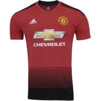 Camisa Manchester United I 18/19 Adidas - Masculina - Vermelho/Preto
