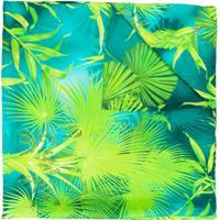 Versace Echarpe Com Estampa De Folhas - Verde