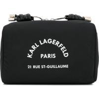 Karl Lagerfeld Necessaire Com Logo Estampado - Preto