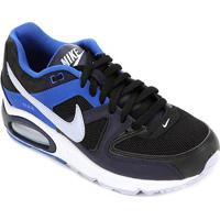 Tênis Nike Air Max Command Masculino - Masculino-Preto+Azul