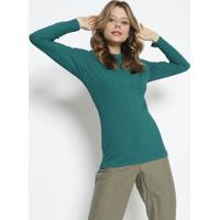 Blusa Canelada- Verde- Colccicolcci