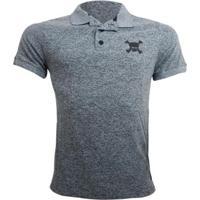 Camisa Polo Oakley Sport Skull Masculina - Masculino-Cinza
