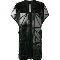 Rick Owens Whisper Geometric Paneled Jacket - Preto