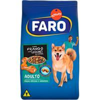 Ração Para Cães Faro Raças Médias E Grandes Sabor Frango Com Legumes Ao Vapor 2Kg