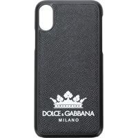 Dolce & Gabbana Case Para Iphone X Com Logo - Preto