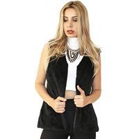 Colete Dress Code Moda Pelo Preto